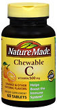 Nature Made Vitamin C 500 mg Chewable Tablets - 60 Tablets