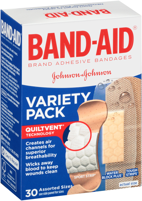 BAND-AID Bandages Variety Pack - 30 EA