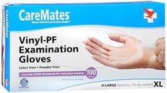 CareMates Vinyl-PF Examination Gloves Large - 100 Count