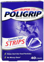 SUPER POLIGRIP Comfort Seal Strips - 40 Strips