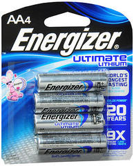 Energizer Ultimate Lithium AA Batteries - 4 Each
