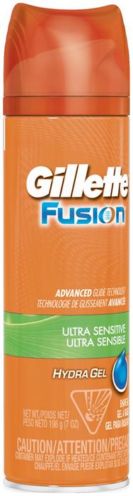Gillette Fusion HydraGel Shave Gel Ultra Sensitive - 7 OZ