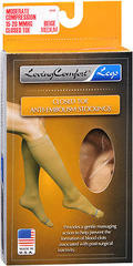 Loving Comfort Closed Toe Anti-Embolism Stockings Moderate Beige Medium - 1 Each