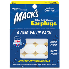 Mack's Pillow Soft Earplugs - 6 Pair