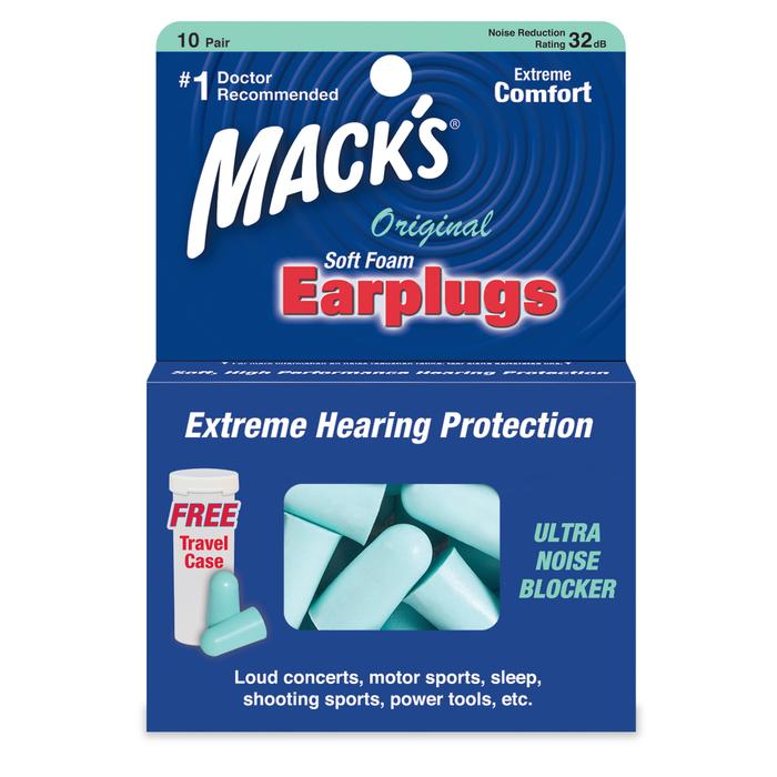 Mack's Original Soft Foam Earplugs - 10 Pair