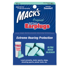 Mack's Original Soft Foam Earplugs - 10 Pair