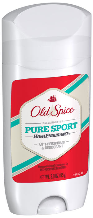 Old Spice High Endurance Anti-Perspirant and Deodorant Gel Solid Pure Sport - 3 Ounces