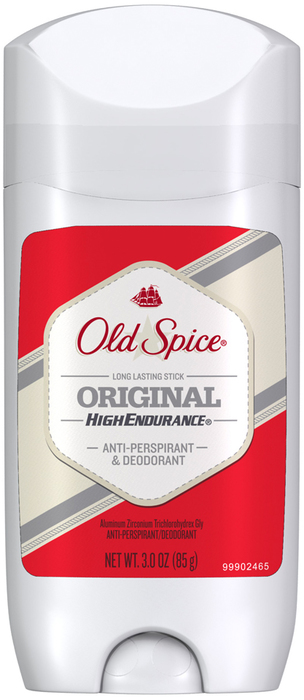 Old Spice High Endurance Anti-Perspirant and Deodorant Gel Solid Original - 3 Ounces