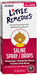Little Remedies Saline Spray/Drops For All Ages  - 1oz