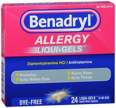 Benadryl Allergy, Liqui-Gels/Softgels  - 24ea