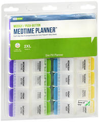 Ezy Dose Push Button Medtime Planner 7-Day XL