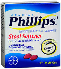 Little Phillips' Stool Softener Liquid Gels - 100 mg - 30 Each