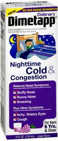 Dimetapp Children's Nighttime Cold & Congestion Liquid Grape - 4 Ounces