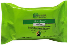 Garnier Nutritioniste Nutri-Pure Detoxifying Wet Cleansing Towelettes - 25 Each