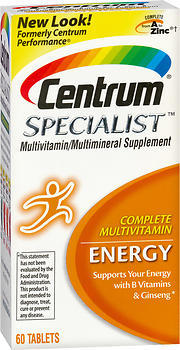 Centrum Specialist Multivitamin Energy 60 Tablets Medshopexpress