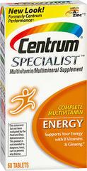 Centrum Specialist Multivitamin Energy 60 Tablets