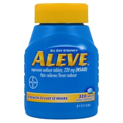 Aleve - Pain Reliever / Fever Reducer (NSAID) - 320 Caplets (220mg each)