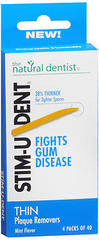 Stim-U-Dent Thin Plaque Removers Mint Flavor - 4 Packs of 40