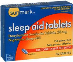 Sunmark Sleep Aid Tablets - 25 mg - 32 Each
