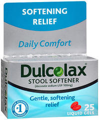Dulcolax Stool Softener, 100 mg, Liquid Gels  - 30ea