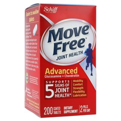 Schiff Move Free Joint Health Advanced (Glucosamine + Chondroitin) - 200 Coated Tablets - Dietary Supplement