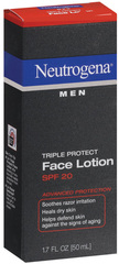 Neutrogena Men Triple Protect Face Lotion SPF 20 - 1.7 OZ