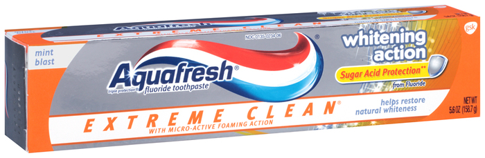 Aquafresh Extreme Clean Toothpaste Whitening Mint Experience  -  5.6 OZ