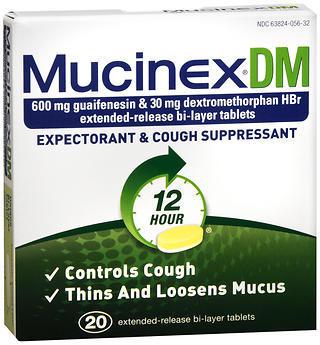 Mucinex DM Extended-Release Tablets  -  20 Tablets