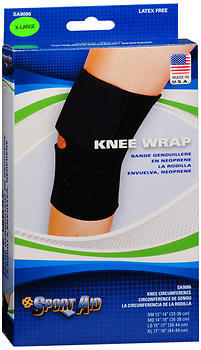 Sport Aid Knee Wrap Black Extra Large - 1 Each
