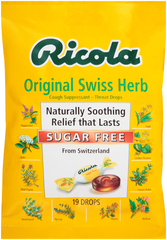 Ricola Throat Lozenges Mountain Herbs Sugar Free - 19 Each