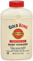 Gold Bond Baby Powder Cornstarch Plus - 4 Ounces