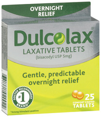Dulcolax Laxative, 5 mg, Comfort Coated Tablets  - 25ea
