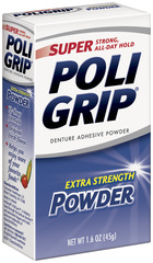 Super PoliGrip Denture Adhesive Powder  - 1.6oz