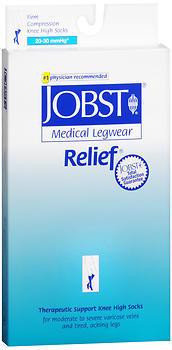 JOBST Medical Leg Wear Knee High 20-30 mmHg Firm Compression Small Beige Close-Toe - 1 Each