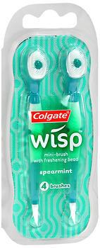 Colgate Wisp Mini-Brushes With Freshening Bead Spearmint - 4 EA