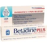 Betadine First Aid Antibiotic Plus Pain Reliever - 0 5oz