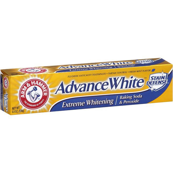 ARM & HAMMER Advance White Toothpaste Dental Baking Soda and Peroxide  -  6 OZ