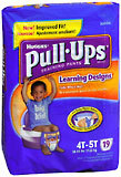 Pull-Ups Learning Designs Training Pants Boys 4T-5T 38-50 LBS - 4 Pack x 19 EA