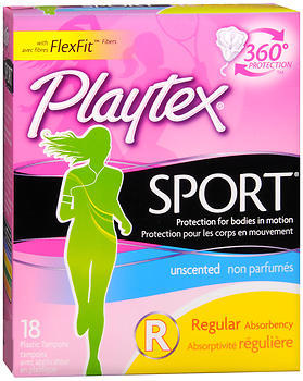 Playtex Sport Tampons Regular Unscented - 18 EA