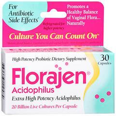 Florajen Acidophilus Extra High Potency - 30 Capsules