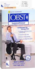JOBST SupportWear Black Mild Compression Therapeutic Support Knee High Dress Socks Men's Size Medium