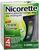 Nicorette 4 mg Mini Lozenges Mint - 81 EA