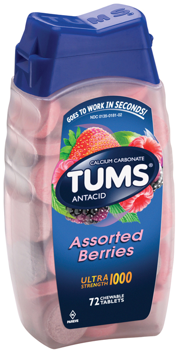 TUMS Ultra Tablets Assorted Berries - 72 TB