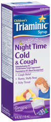 Triaminic Children's Syrup Night Time Cold & Cough Grape Flavor - 4 OZ