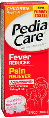 PediaCare Children's Fever Reducer/ Pain Reliever Oral Suspension Dye Free Cherry - 4 OZ