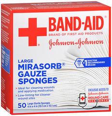 Johnson & Johnson Sterile Gauze, Mirasorb Sponges  - 50ea