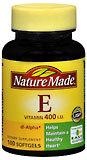 Nature Made Vitamin E 400 IU Softgels - 100 Caplets