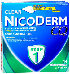 NicoDerm CQ Stop Smoking Aid, 21 mg, Patch, Step 1, 2 Week Kit  - 14ea