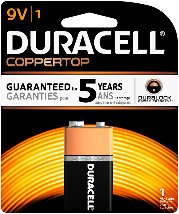 Duracell 9V Alkaline Battery With Tester - 1 EA