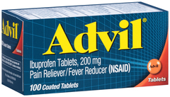Advil Ibuprofen, 200 mg, Coated Tablets  - 100ea